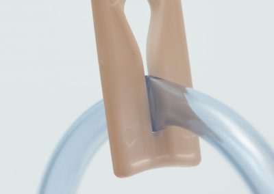 Enema Bucket Knob in Closed Position